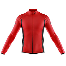 Load image into Gallery viewer, Big and Tall Mens Red Nesh Midweight Cycling Jersey