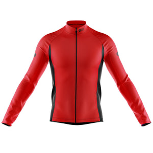 Big and Tall Mens Red Nesh Midweight Cycling Jersey