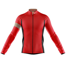 Load image into Gallery viewer, Mens Red Stripe Windproof Cycling Jersey