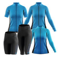 Load image into Gallery viewer, Women's Blue Squircle Cycling Jersey