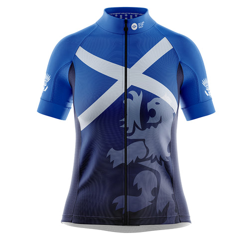 Women's Cove Cycling Jersey in Scotland Flag