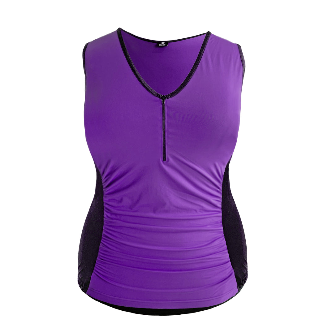 Women's Purple Sleeveless Cycling Jersey