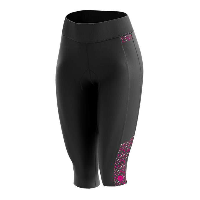 Women's Pink Squircle Padded Cycling Leggings