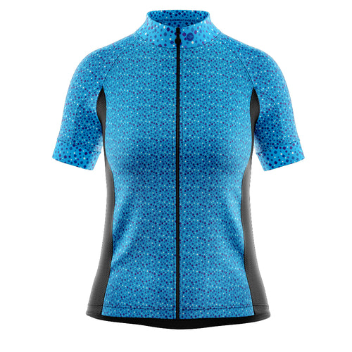 Women's Fleet Cycling Jersey in Squircle Blue