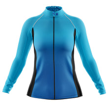 Load image into Gallery viewer, Women's Blue Squircle Cycling Rain Jacket
