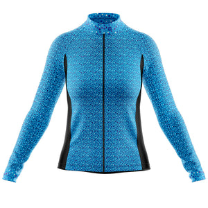 Women's Blue Squircle Cycling Jersey