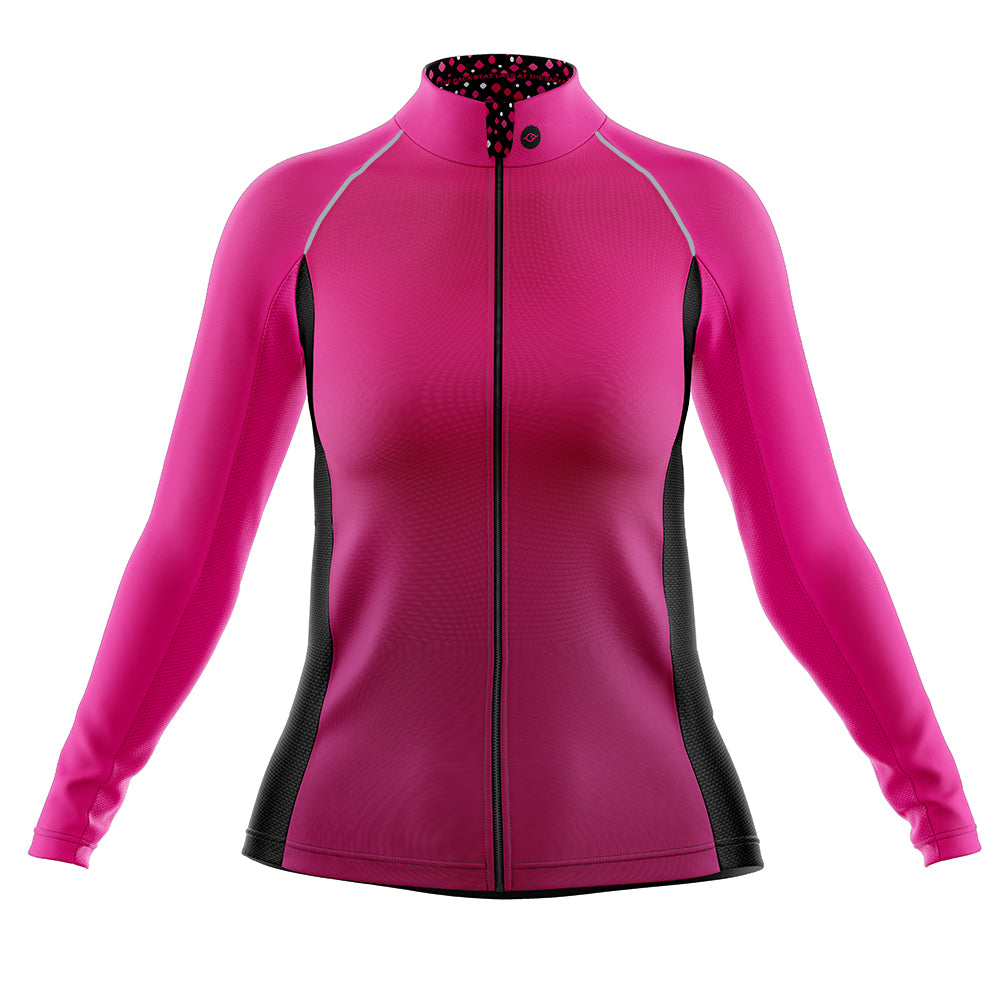 Women's Pink Squircle Cycling Rain Jacket