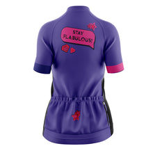 Load image into Gallery viewer, Women's Cove Cycling Jersey in Stay Flabulous