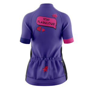 Women's Cove Cycling Jersey in Stay Flabulous