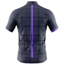 Load image into Gallery viewer, Big and Tall Mens Cove Cycling Jersey in Check Purple