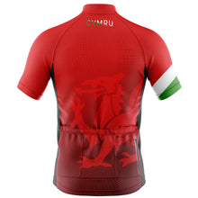 Load image into Gallery viewer, Big and Tall Welsh Dragon Cycling Jersey