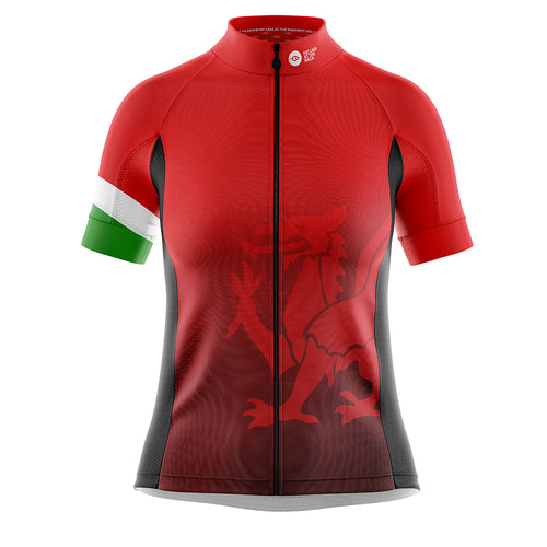Women's Cove Cycling Jersey in Welsh Dragon