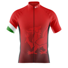 Load image into Gallery viewer, Mens Cove Cycling Jersey in Wales Flag