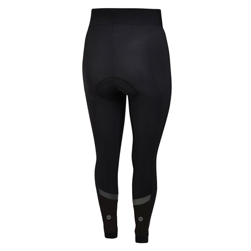 Women's Black Winter Thermal Padded Cycling Tights