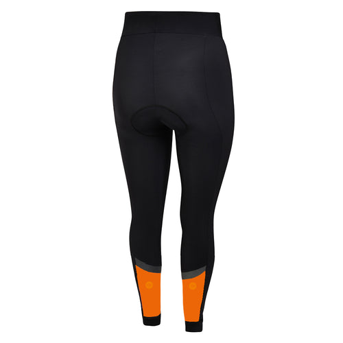 Mens Orange Stealth Jewel Reflective Thermal Padded Cycling Bib Tights - Due October