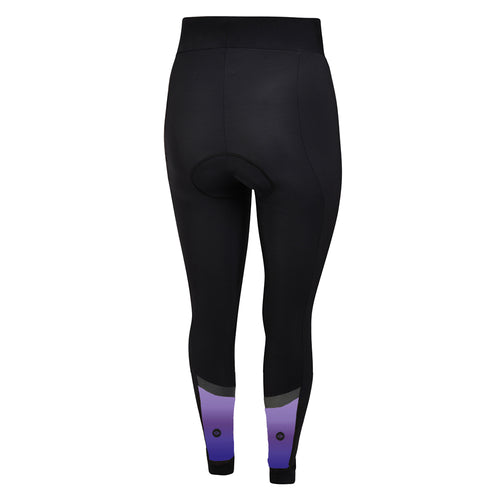 Women's Purple/Blue Winter Thermal Padded Cycling Tights