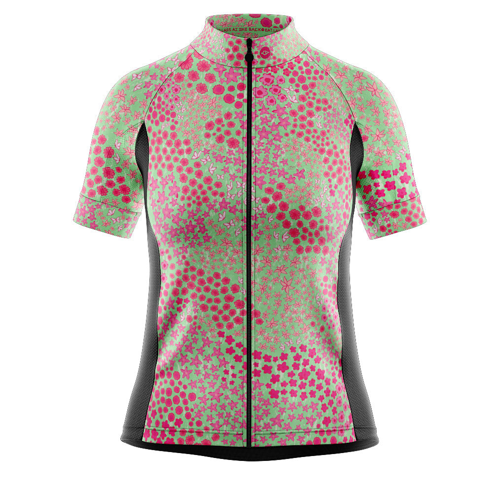 Women's Pink Ditsy Cycling Jersey
