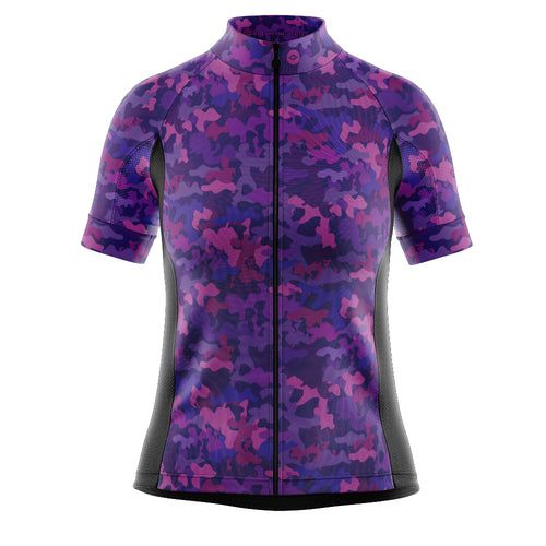 Women's Fleet Cycling Jersey in Camo