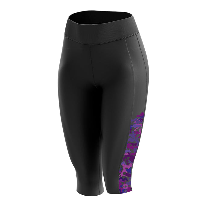 Women's  Padded 3/4 Cycling Leggings in Camo