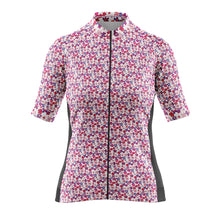 Load image into Gallery viewer, Women's Cove Cycling Jersey in Flower Power Pink