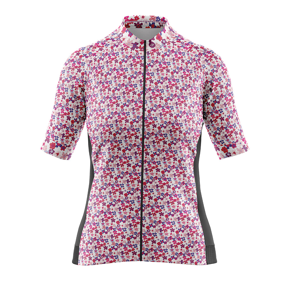 Women's Cove Cycling Jersey in Flower Power Pink