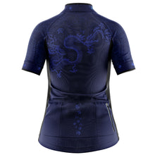 Load image into Gallery viewer, Women's Blue Oriental Cycling Jersey