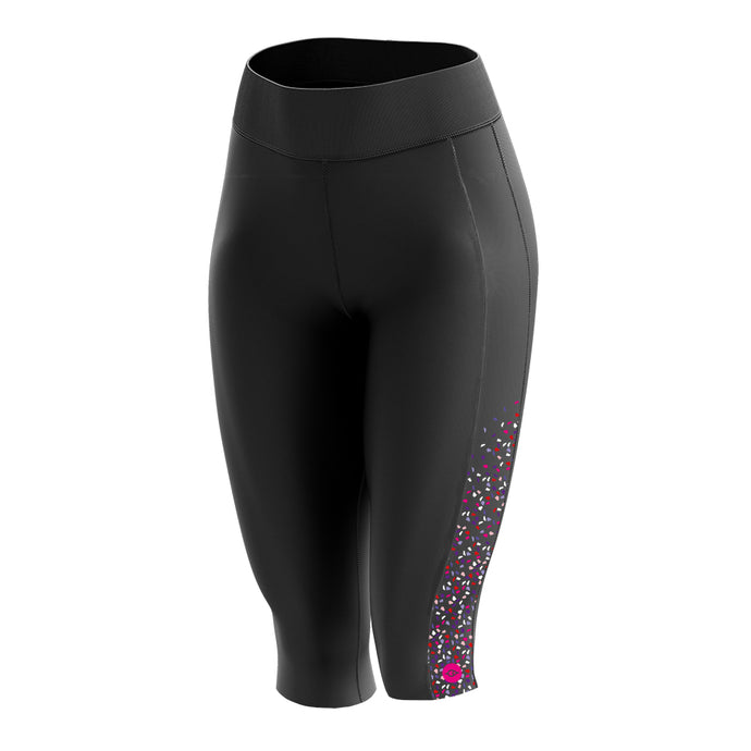 Women's Padded 3/4 Cycling Leggings in Gem Purple