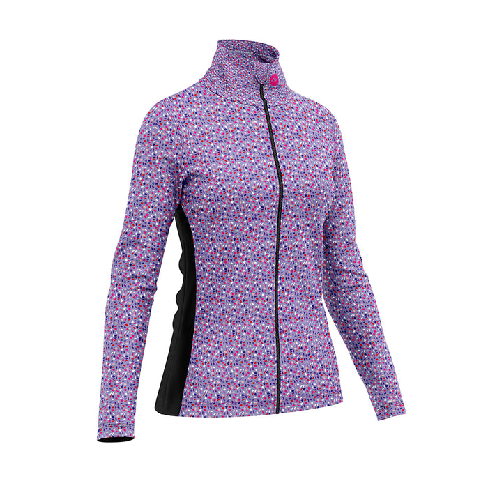 Women's Wind Water Resistant Cycling Jacket in Gem Purple