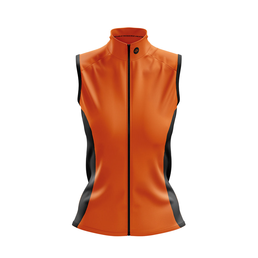Women's Windy Cycling Gilet in Orange