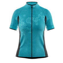 Load image into Gallery viewer, Women's Jade Green Oriental Cycling Jersey