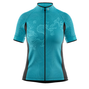 Women's Jade Green Oriental Cycling Jersey