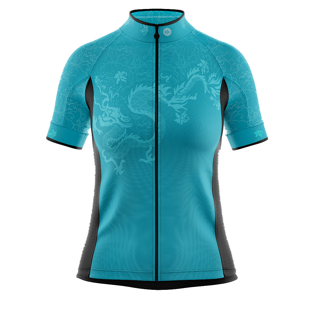 Women's Cove Cycling Jersey in Oriental Jade