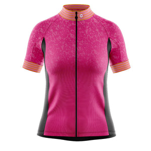 Women's Pink Stripey Cycling Jersey