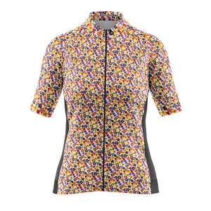 Women's Cove Cycling Jersey in Flower Power Orange