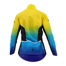 Load image into Gallery viewer, Women's Yellow and Blue Graduated Winter Cycling Jacket