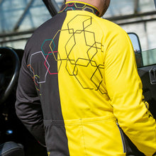 Load image into Gallery viewer, Mens Yellow Hybrid Cycling Jersey