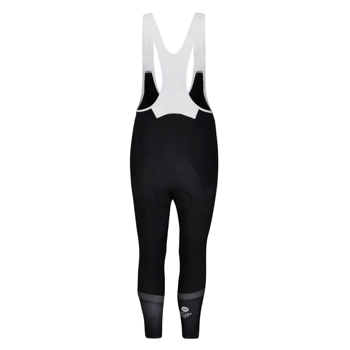 Mens Black Jewel Reflective Thermal Padded Cycling Bib Tights