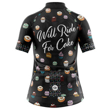 Load image into Gallery viewer, Women's Will Ride For Cake Cycling Jersey
