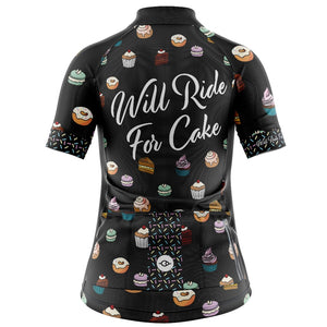 Women's Will Ride For Cake Cycling Jersey