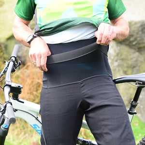 Mens Black Cracking Mountain Bike Shorts