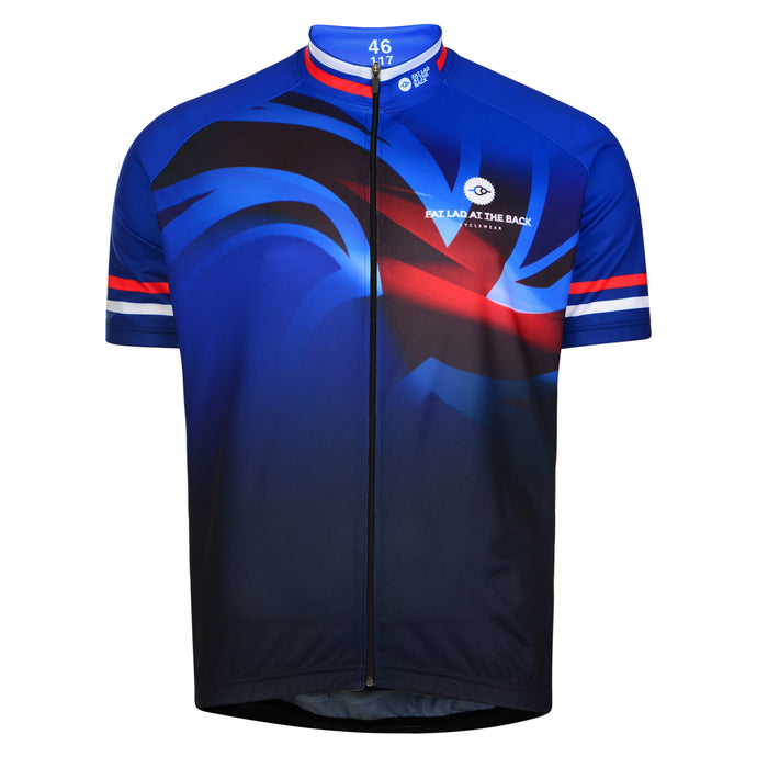 Mens Blue Union Jack Cycling Jersey
