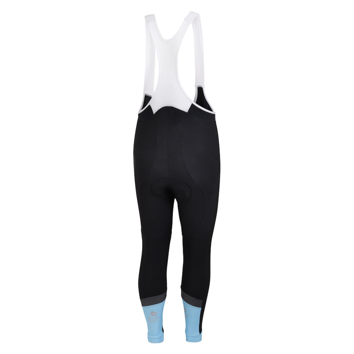 Mens Blue Jewel Reflective Thermal Padded Cycling Bib Tights