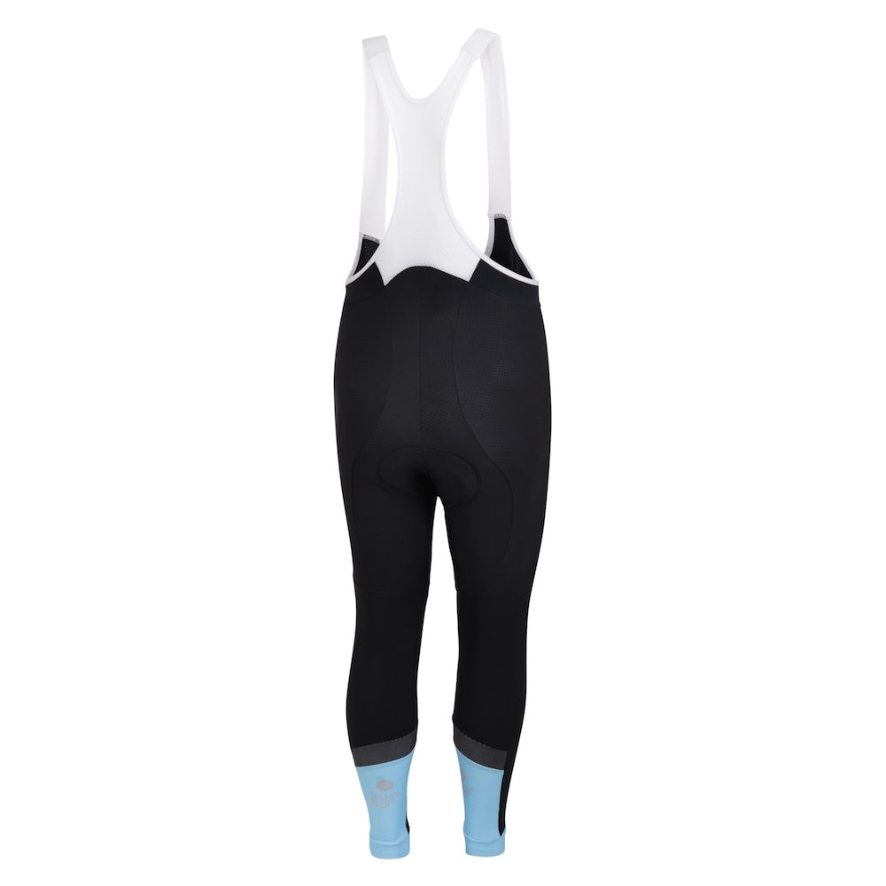Mens Blue Jewel Reflective Thermal Cycling Bib Tights