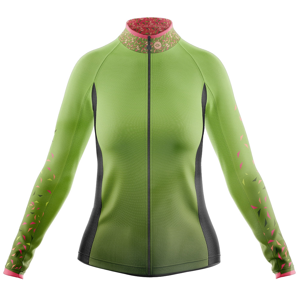 Women's Green Flutter Cycling Rain Jacket
