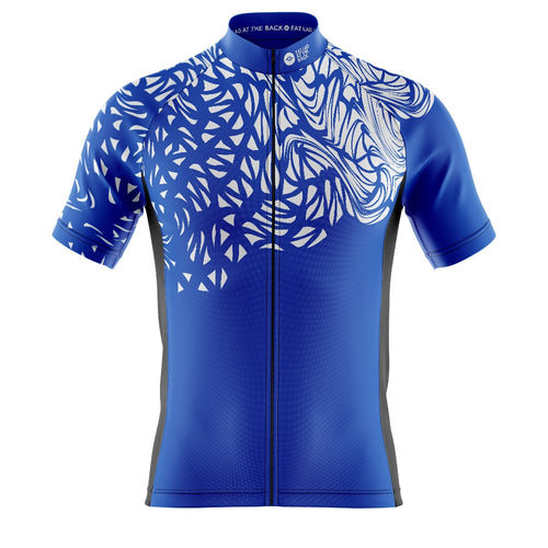 Big and Tall Mens Blue Gnarly Cycling Jersey