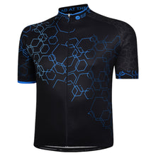 Load image into Gallery viewer, Mens Blue Hexy Cycling Jersey