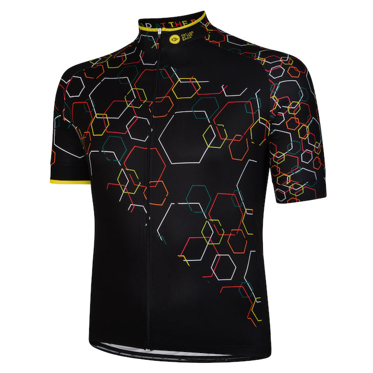 Big and Tall Mens Multi Hexy Cycling Jersey