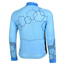 Load image into Gallery viewer, Mens Hybrid Blue Windproof Cycling Jersey