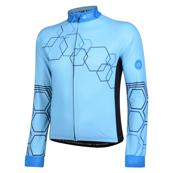 Mens Hybrid Blue Windproof Cycling Jersey