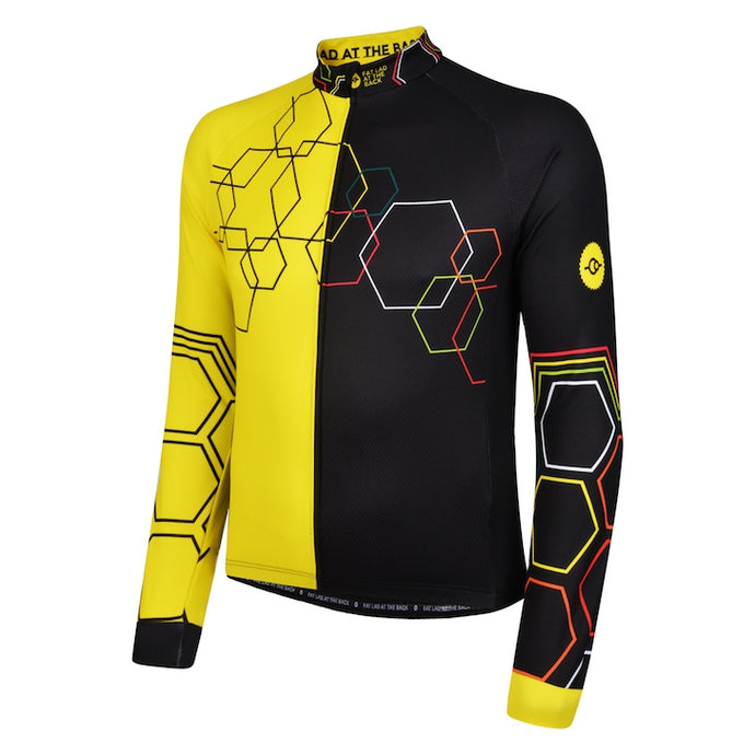 Mens Yellow Hybrid Cycling Jersey
